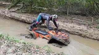 8. ATV CF Moto in the mud