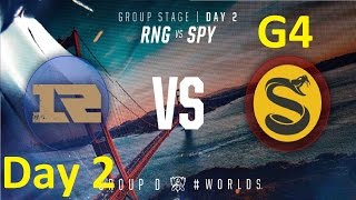 RNG vs SPY Game 1 Highlights - 2016 Worlds Group Stage - Day 2