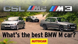 BMW E30 M3 vs E46 M3 CSL vs M2 Competition - what is the best M Car of all time?   Autocar Heroes by Autocar