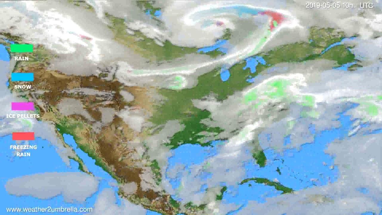 Precipitation forecast USA & Canada // modelrun: 12h UTC 2019-05-02