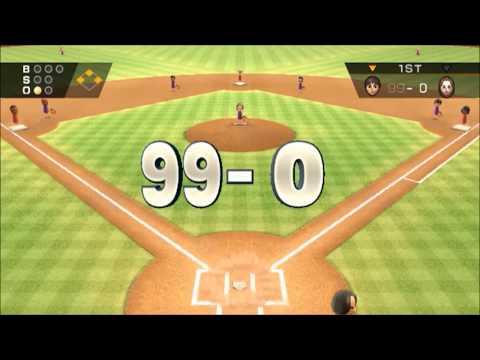 (TAS) Wii Sports Baseball: 99-0 :Max Score Possible (Full Game)