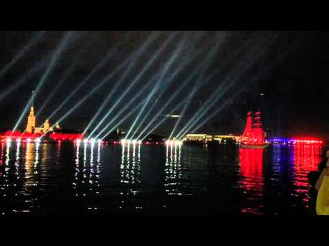 St. Petersburg WHITE NIGHTS Red Sailing Boat Event / Festival 2015 Russia