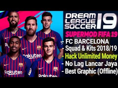 Download Dream League Soccer Mod Barcelona Squad & Kits 2018 / 2019 Hack Unlimited Money | Fifa 19