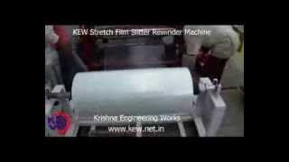 KEW Stretch Film Slitter Rewinder Machine