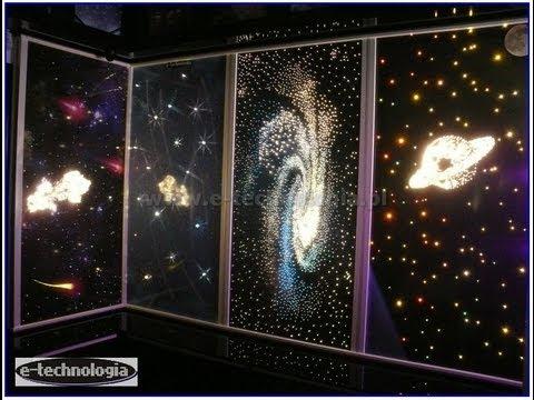 Zestaw Meteoryty, oświetlenie światłowodowe, lampki na ścianach, suficie