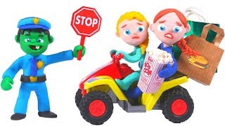 SUPERHERO BABY POLICE STOPS SPEEDY QUAD • Superhero Babies Play Doh Cartoons For Kids