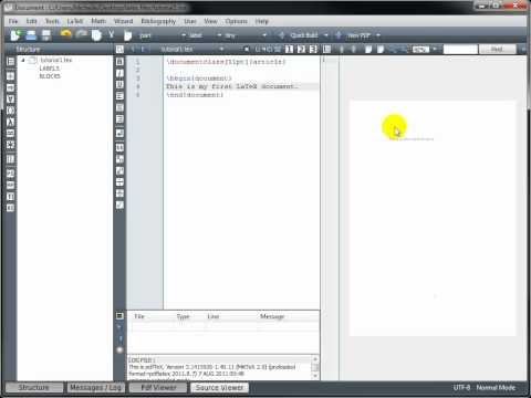 LaTeX Tutorial 1 - Creating A LaTeX Document