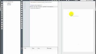 LaTeX Tutorial 1 - Creating A LaTeX Document