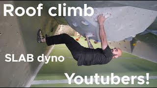 TAll YouTubers in SMALL tunnel by Bouldering Bobat