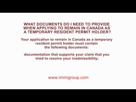What documents do I need to provide when applying to Remain in Canada as a TRP Holder?
