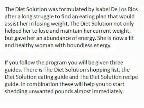 The Diet Solution for Health, Energy and Vitality