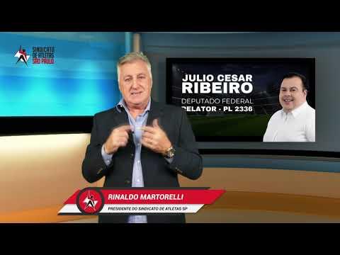 Martorelli agradece deputado Julio Cesar Ribeiro após manutenção de percentual do Direito de Arena