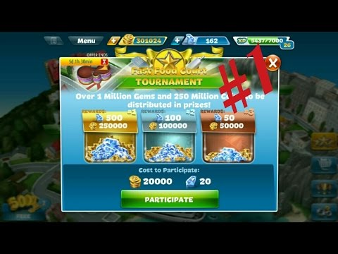 Cooking Fever - Fast Food Court Tournament Part 1 Completed