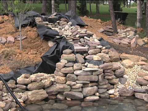 Step by step guide to building pond waterfalls video for Building a koi pond step by step