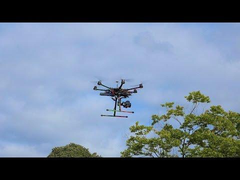 業務用マルチコプターの簡単な離陸と着陸 サンプル映像 4K