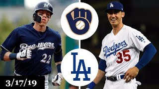 Milwaukee Brewers vs Los Angeles Dodgers Highlights | March 17, 2019 | Spring Training