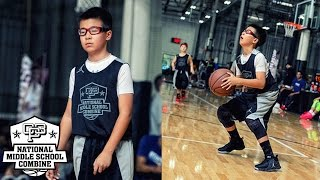 Timmy Lin is a 6th grader from California who brought his range to the 2017 CP3 National Middle School Combine.  The Class of 2023 guard has a nice shooting stroke and good passing instincts.  Lin shot a high percentage at the camp and made the most out of every opportunity he got.If you are interested in attending future CP3 Camps please visit www.CP3NMSC.com