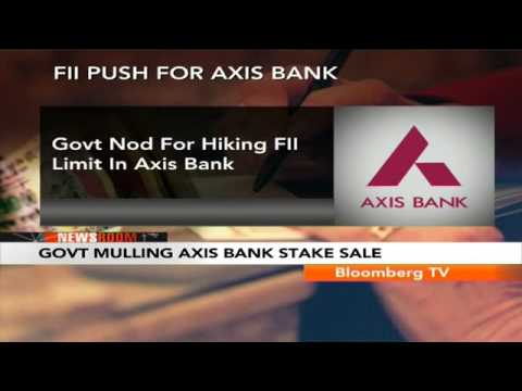 Newsroom – Axis Bank's FII Limit Hiked to 62%