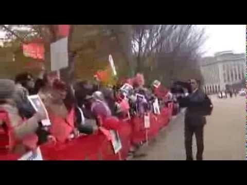 Juste Avant l'arrivée du Roi, devant la Maison Blanche, Avenue de Pennsylvanie