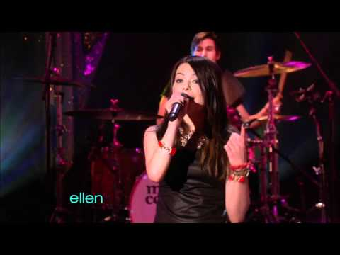 [HD] Miranda Cosgrove ft Greyson Chance - Dancing Crazy (The Ellen DeGeneres Show )