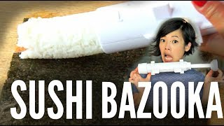 "Go to https://thoughtfully.com/emmy and use the code ""Emmy"" to get 25% off your first order.  The Sushi Bazooka claims to make sushi making easier by extruding perfect a log of makizushi.  Hmm...let's see if it really works. New videos every Monday, Thursday, and Saturday!Join the Emmy League of Adventuresome Eaters & find me here:Subscribe: http://youtube.com/subscription_center?add_user=emmymadeinjapanTwitter: https://twitter.com/emmymadeinjapanInstagram: http://instagram.com/emmymadeSnapchat: @emmymadeFacebook: https://www.facebook.com/itsemmymadeinjapan/My other channel: emmymade http://bit.ly/1zK04SJThis video IS sponsored. Thanks, Thoughtfully, for supporting my channel!Original Fire Noodle Challenge: http://bit.ly/2ixv2QgBee Vlogs: http://bit.ly/2qGyaf4Bubble Bath, Positivity, & Sprightly music courtesy of audionetwork.com and royalty-free Sprightly from iMovie.  If you're reading this, you know what's what. Comment: ""Where are the water balloons?"" below. :)"