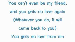 Faith Evans- You Gets No Love Lyrics video.wmv