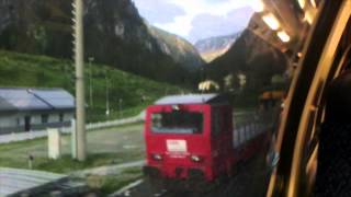 Bockstein Austria  city images : Böckstein, car in the train through the Alps mountains,Austria
