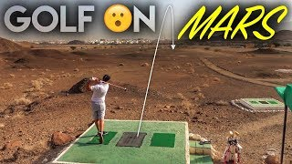 Playing Golf...ON MARS! Desert Golf in Oman