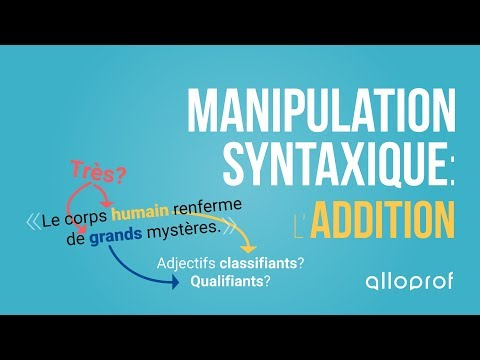 Alloprof - Les manipulations syntaxiques: l'addition (français)