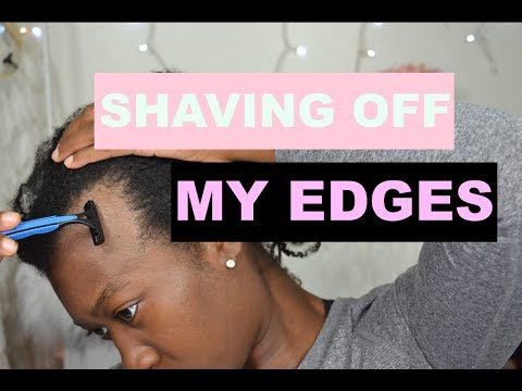 Shaving Off My Edges To Grow Them Back Fuller and Thicker | Traction Alopecia | Grow Edges Back #1 (видео)
