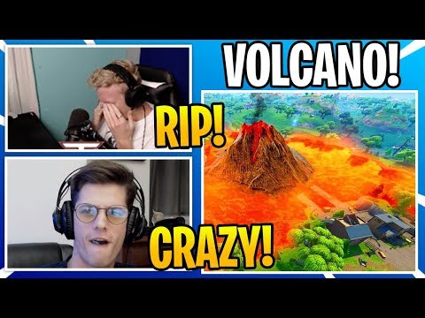 Steamers React To *NEW* VOLCANO In Fortnite (SEASON 8)