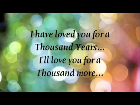 A Thousand Years - Christina Perri Lyrics
