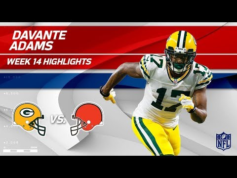 Video: Davante Adams' 2 TDs & 10 Catches vs. Cleveland | Packers vs. Browns | Wk 14 Player Highlights