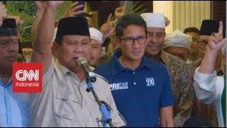 Video Ditemani Sandi, Prabowo Deklarasikan Kemenangan Sebagai Presiden & Wapres 2019-2024 MP3, 3GP, MP4, WEBM, AVI, FLV April 2019