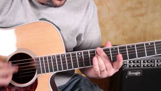 Mumford and Sons - I will Wait - How to Play on Acoustic Guitar Lesson - Lesson Tutorial