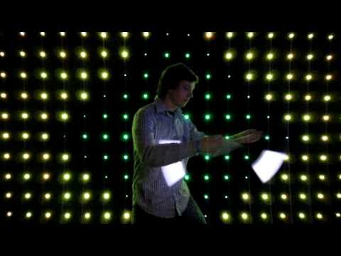 glowstringing - Glowstringing with a wall of LEDs.