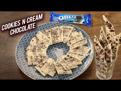 2 Ingredients Cookies n Cream Bar | Yummy OREO Cookies and Cream Chocolate by Varun