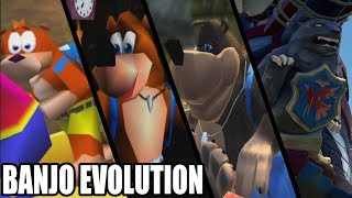 Evolution of Banjo from Banjo Kazooie (1997 - 2018)