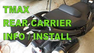 7. Yamaha TMAX Rear Carrier Rack Installation And Information