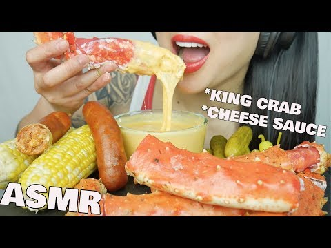 ASMR SEAFOOD + CHEESE FONDUE *KING CRAB + SAUSAGE (EATING SOUNDS) NO TALKING | SAS-ASMR
