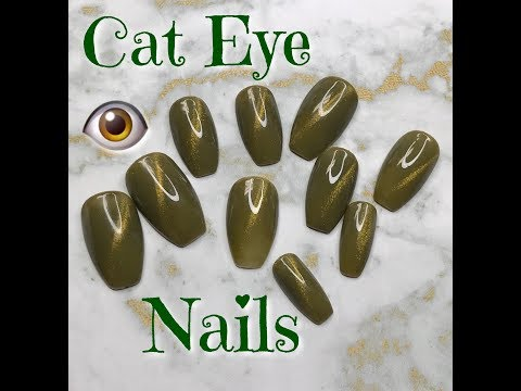 Cat Eye Gel Nails  How To   2018  DivaDollFlawless