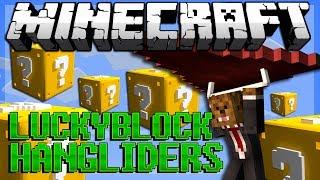 Minecraft: Lucky Block HANGGLIDER PVP! Modded Minigame w/ Vikkstar, Bodil, Simon!
