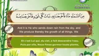 Quran translated (english francais)sorat 06 القرأن الكريم كاملا مترجم بثلاثة لغات سورة الأنعام