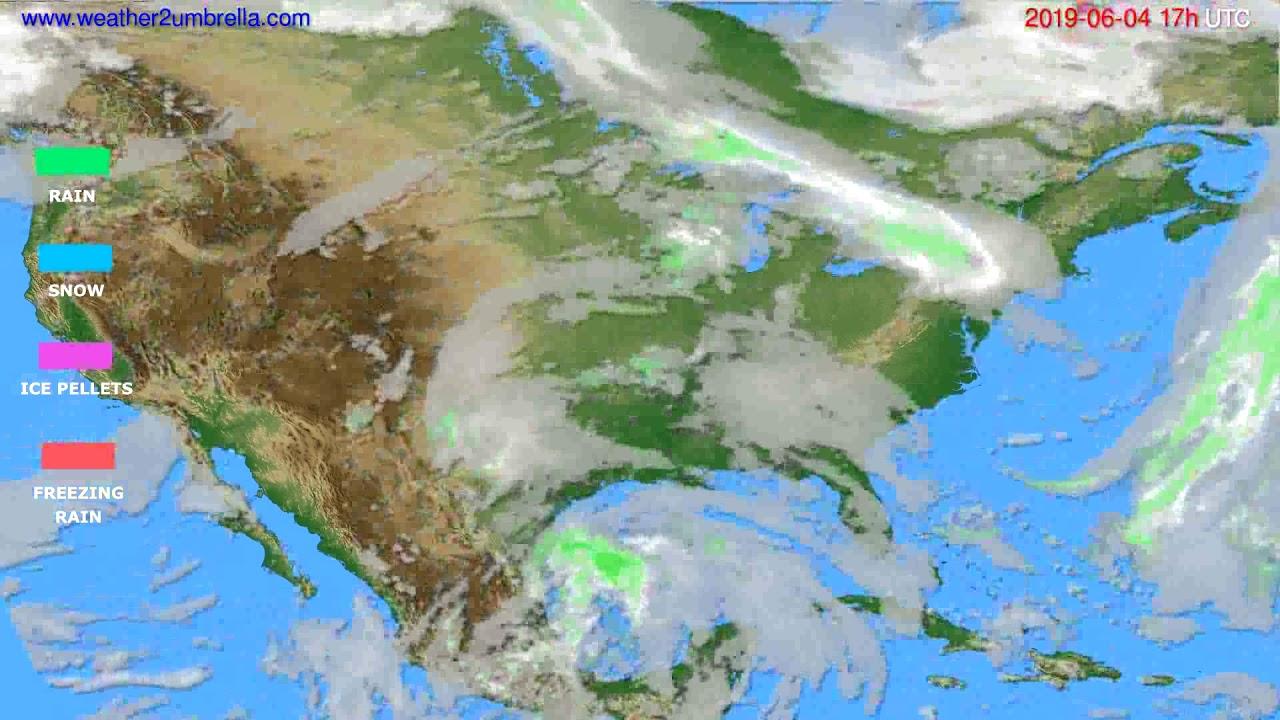 Precipitation forecast USA & Canada // modelrun: 00h UTC 2019-06-03
