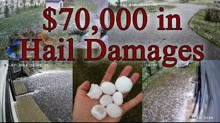 Airdrie (AB) Canada  city photos gallery : Major Hail Damage in Airdrie, AB, Canada on August 7, 2014 – Security Cameras