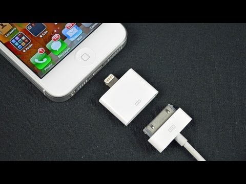 adapter - Demo of the Apple Lightning to 30-pin Adapter which lets you use your old Dock accessories with the iPhone 5, iPod Touch 5G, and iPod nano 7G. Link: http://g...