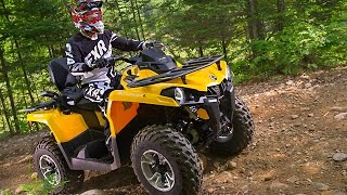 9. TEST RIDE: 2015 Can Am Outlander 450 L MAX DPS