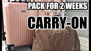 Come pack with me as I vlog my packing process and how to pack for 2 weeks travel to Europe with only a carry on suitcase and a bag. I have linked all suitcases, packing cubes, bags, etc. down below!MORE PACKING VIDEOS:  http://bit.ly/2vvEZBuWe always, ALWAYS stay in AirBnBs when we travel - Get $35 off your first AirBnB stay here: http://bit.ly/1QQae3b► SUBSCRIBE FOR MORE BEAUTY VIDEOS: http://bit.ly/subtojess► MY HUSBAND TYLER'S CHANNEL/OUR VLOGS: http://bit.ly/1lDqfvi► SNAP  IG  TWITTER  FB: @jambeauty89❋ EBATES//MAKE MONEY SHOPPING ONLINE: http://bit.ly/1g7rj6W❋ HAUTELOOK//GET 50% OFF HIGH END MAKEUP: http://bit.ly/1fWXfuv▼ PRODUCTS MENTIONED ▼  White or Black Eagle Creek Compression Packing Cubeshttp://go.magik.ly/ml/5u3t/Rimowa Rose Gold Carry On Suitcasehttp://go.magik.ly/ml/5u3v/DUPE: Calpak Rose Gold version of my suitcasehttp://go.magik.ly/ml/5u9u/Vera Bradley Duffel (similar to mine)http://go.magik.ly/ml/5u3w/Calpak Packing Cubeshttp://go.magik.ly/ml/5u3y/Shoe Packing Cube (similar to mine)http://go.magik.ly/ml/5u42/Light Pink Steve Madden Back Pack (from Hautelook)http://bit.ly/1fWXfuvVera Bradley Hanging Organizer (Different colors)http://go.magik.ly/ml/5u44/Clear TSA Approved Zip Bag (similar to mine)http://go.magik.ly/ml/5u9q/Lay n Go Cosmetic Baghttp://go.magik.ly/ml/5u9t/Delsey suitcase (similar to mine)http://go.magik.ly/ml/5ua2/Rings & Tiny Bling Pouch - from Hautelookhttp://bit.ly/1fWXfuvM-Square First Aid Medicine Organizer for Travelhttp://go.magik.ly/ml/5u3n/▼ CONTACT ▼EMAIL for Business Inquiries: jambeauty89@gmail.comMAIL: PO Box #50204 Indianapolis, IN 46250DISCLAIMER:  This video is not sponsored.  All opinions are my own, honest opinions, regardless of sponsorship, referral links, and/or affiliation. Product links with Go.Magik.ly and links denoted with a ❋ denotes a referral and/or affiliate link. MUSIC: All Sound Effects Provided by: Youtube Audio Library. End Credits: Italian Afternoon by Twin Musicom is licensed under a Creative Commo