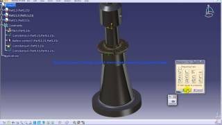 Catia V5 Tutorial|P4 Assemble Screw Jack|Offset Constraint|Mechanical Design Engineering