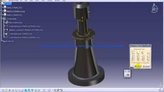 Catia V5 Tutorial|P4 Assemble Screw Jack|Offset Constraint|Mechanical Design Engineering